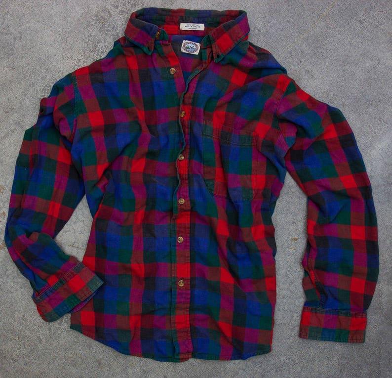 Vintage Flannel Faded Vintage 90s Flannel Soft 90s Grunge Size image 0