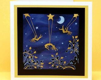 Stargazing art card