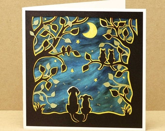 Summer Nights art card