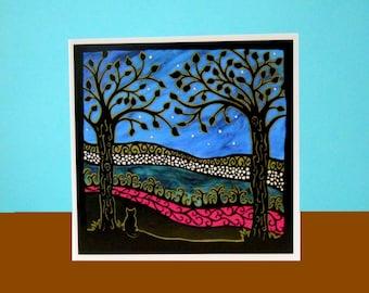 A lovely evening  art card