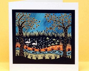 Swan Lake art card
