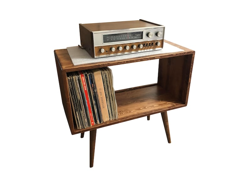 Mid Century Modern Record Player Stand | Etsy