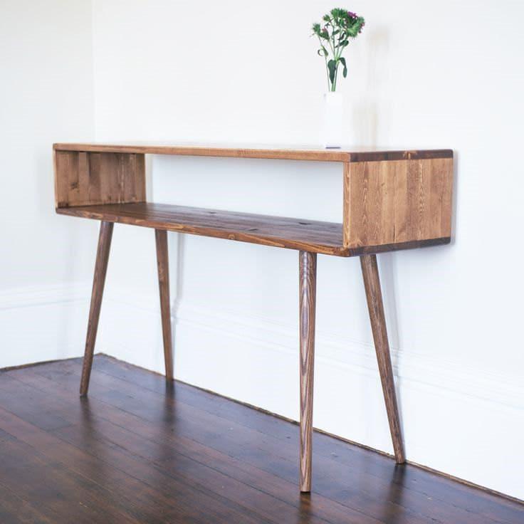 Mid Century Modern Sofa Table Hallway Table Entry Table | Etsy