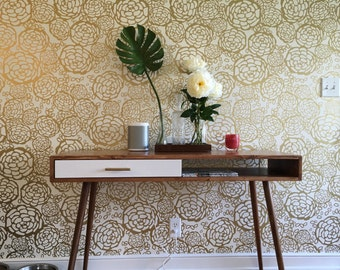 Mid Century Desk with Drawer Solid Wood - MADE TO ORDER 90 days