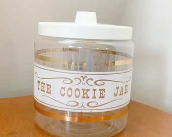 Dog Treats Canister Mid Century Mothers Day Gift for Her,Gift for Him Cookie Canister 1960s Covered Glass Jar Vintage Pyrex Cookie Jar