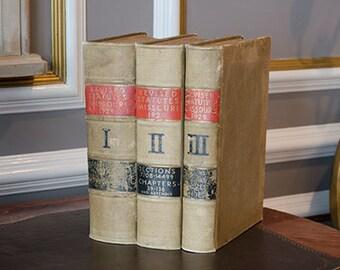 Antique Law Books, 1929, Set of Three, Missouri