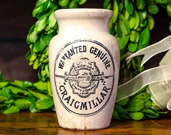 Antique English Advertising Pot, Criagmillar Creamery