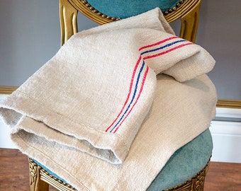 Antique Grain Sack, Stripes, From Europe