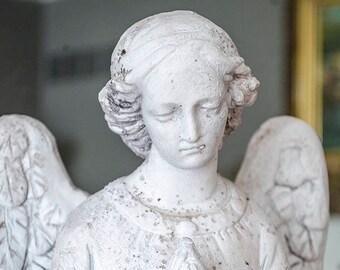 Lg Gorgeous Prayer Angel Statue, Garden Patio
