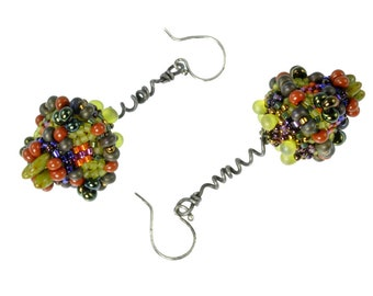 "The ""Forbidden Fruit"" Drop Earrings beading kit"