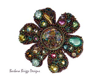 "The ""Six Petal Bloom"" Bead-Embroidered Brooch Kit"