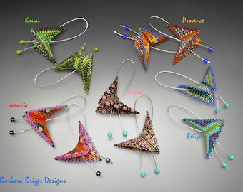 """Geometric """"Color Play Warped Square Mixed Pattern"""" Drop Earrings - Beading Kit"""