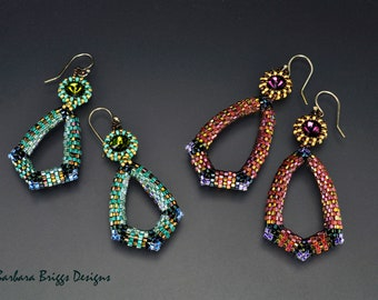 """Geometric Design - """"Princess Ahmanet's Teardrop Earrings"""""""