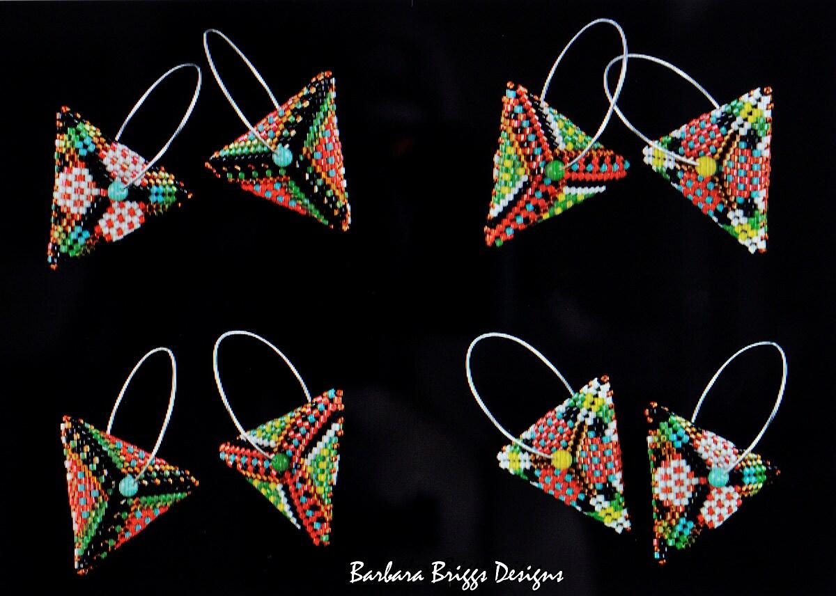 Nouveau Nouveau Nouveau Design - «Quadra Play» géométriques Triangle Drop boucles d'oreilles perles Kit 318593