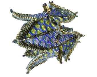"The ""Mermaid Cuff"" Beading Kit (inspired by contemporarygeometricbeadwork.com)"