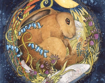 The Hare - limited edition print - A3 no 42/50