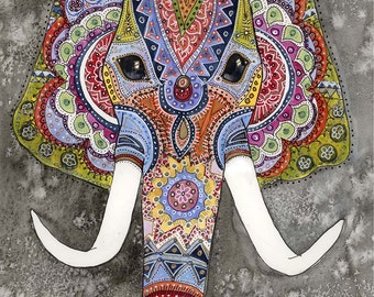 Indian Elephant - A limited edition A4 print