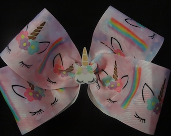 Unicorn bow, huge 8 inch bow with planar center