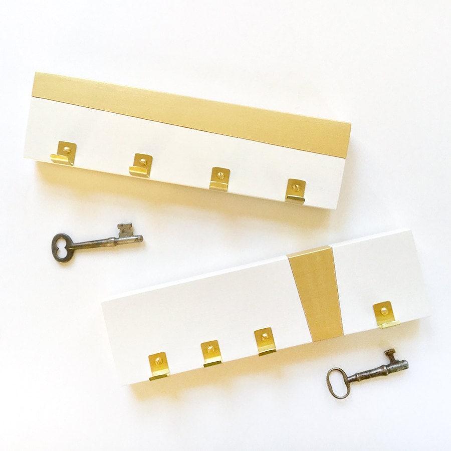 KEY RACK MODERN: Brass Gold Simple Key Holder Hooks Minimal | Etsy