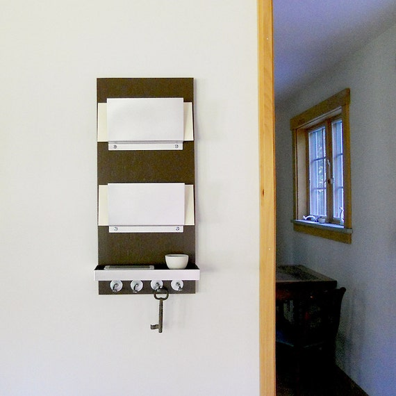 Merveilleux OFFICE MAIL ORGANIZER: Mail Holder And Shelf With Key Hooks   Etsy