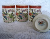 Vintage Satsuma Arnart Imports Tea Cups Beverage Glasses Art Deco