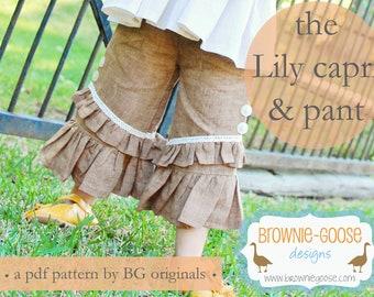 BG Originals The Lily Ruffler pdf pattern (pants or capri)