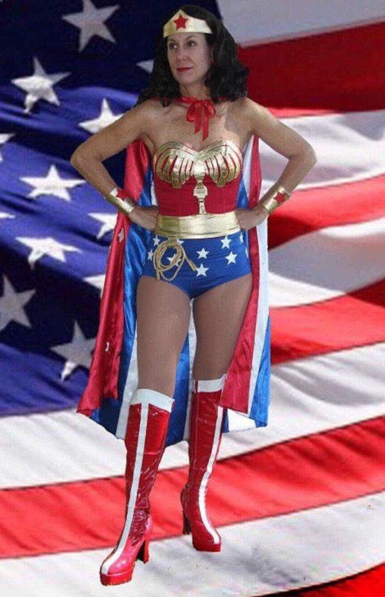 Lynda Carter Wonder Woman Costume Comic Con Custom Made Etsy