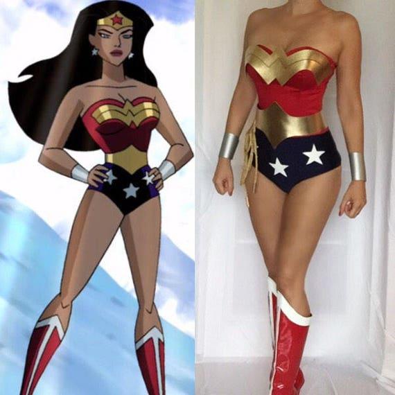 Justice League Wonder Woman Costume Custom Made Etsy