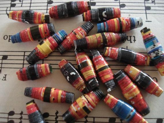 Easy Off - 20 Handmade Paper Beads