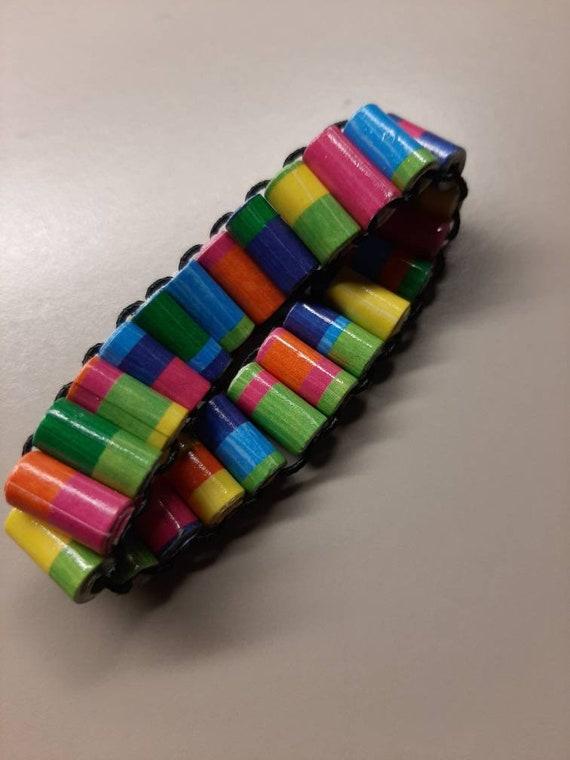 Handmade Paper Beads - Scrapbooking Paper Bracelet