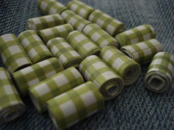 Scrapbook Paper - 15 Handmade Paper Beads