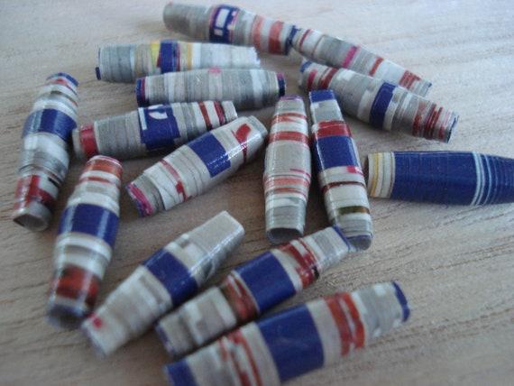Hefty - 15 Handmade Paper Beads
