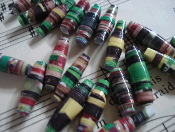 Motts - 20 Handmade Paper Beads