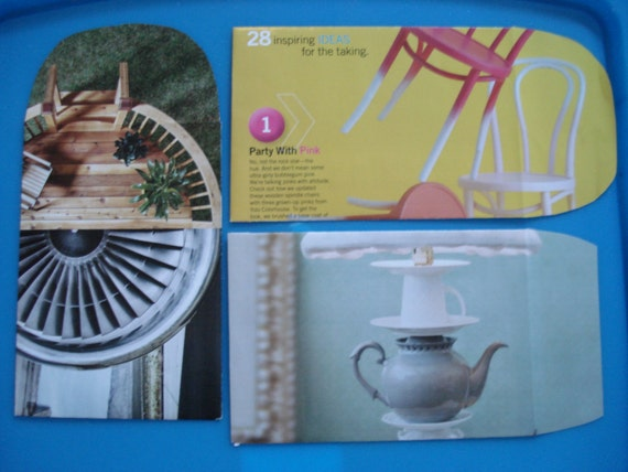 Leftovers - 4 Handmade Recycled Magazine Envelopes