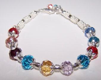Birthstone Bracelet, Mothers Bracelet (B116)