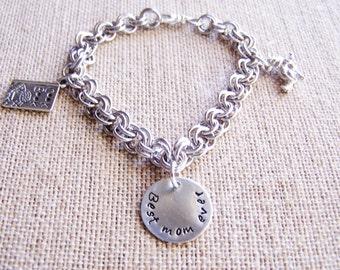 Charm Bracelet Custom Made silver plated handmade chain bracelet