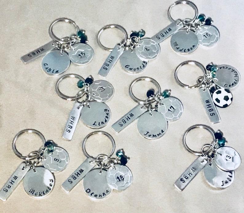 Team keychains 9 count