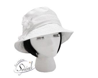 ac723ca28 White summer hat | Etsy