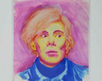 Andy Warhol Watercolor Portrait Giclee Print