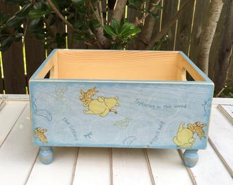 Winnie the Pooh - Nursery Organization - Baby Shower Gift - Girlu0027s Nursery - Boyu0027s Nursery Decor - Nursery Storage - Nursery Bins & Pooh storage bin | Etsy