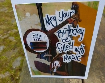 BIRTHDAY CARD Musician Birthday Jazz Lover Musicians Card Bass Player Music Lovers Orchestra Gift Singers Conductor