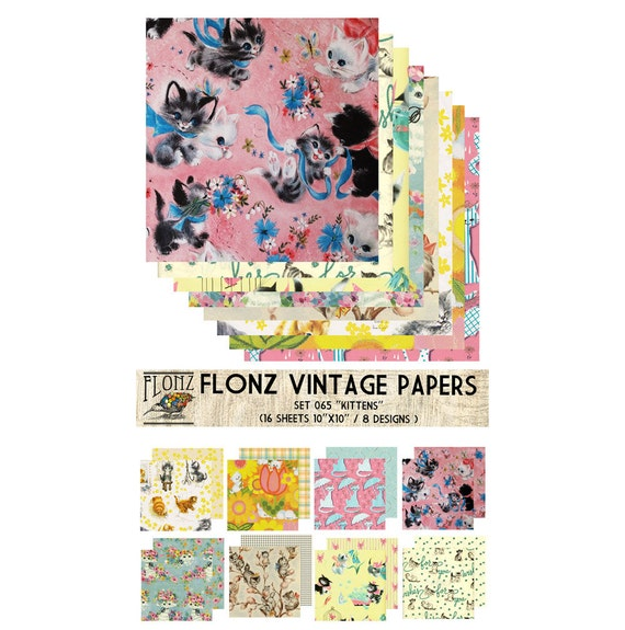 Damask Patterns FLONZ Vintage Styled Paper for Decoupage Decoupage Paper Pack 24 Sheets 6x6 Craft and Scrapbooking