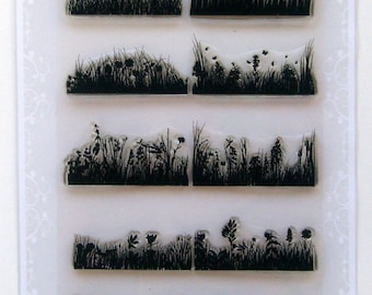 Grass borders - borders and frames set 18 - Flonz clear stamps
