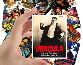 "Large Stickers (each sticker 2.5""x3.5"", pack 24 stickers) Vampires Vintage Trash Horror Thriller Movie Posters FLONZ S-1068"