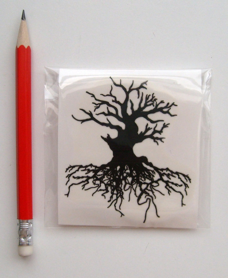 FLONZ Clear stamp clingy acrylic Large Old Tree With Branches