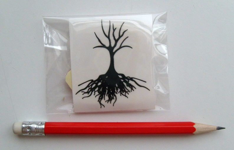 Leafless Tree Showing Roots Small FLONZ Clear stamp clingy acrylic
