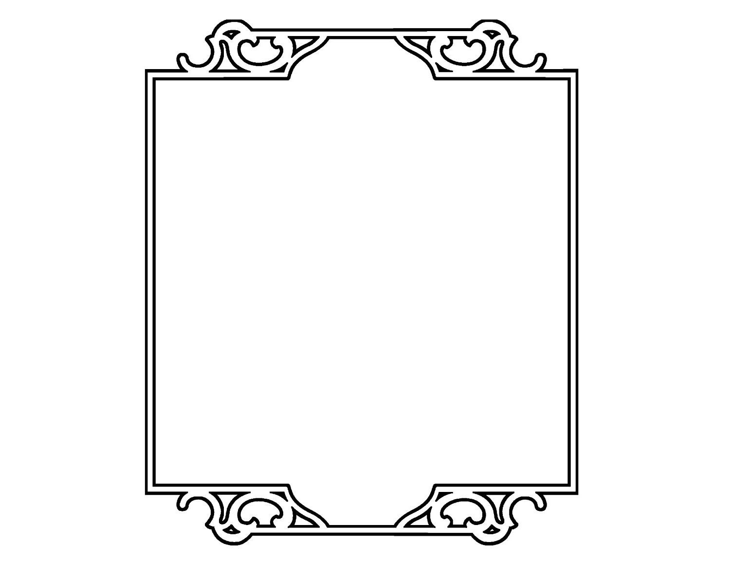 Simple Rectangle Border Flonz Clear Stamp Clingy