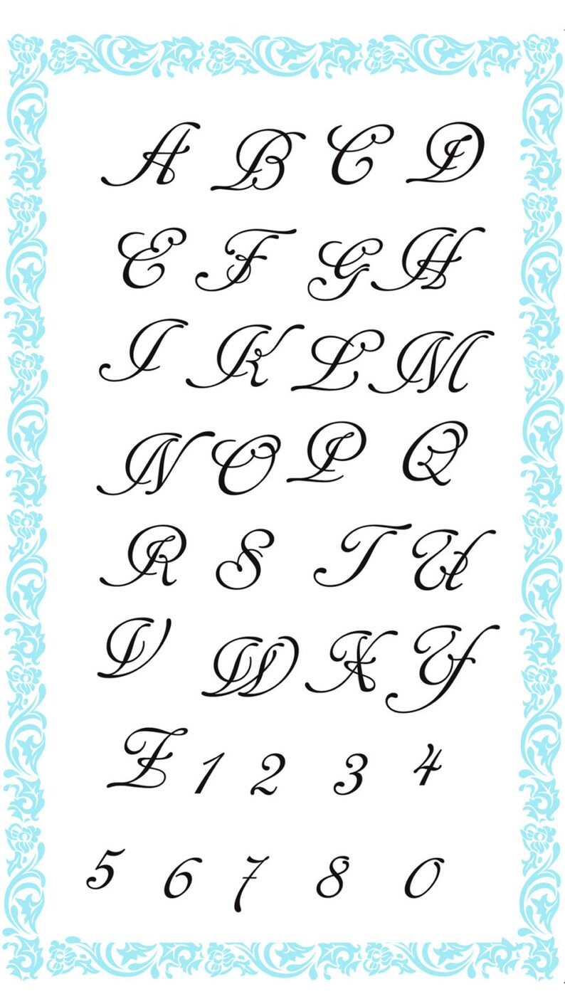 Alphabet clear stamps set Cancellarium FLONZ 728 acrylic clingy unmounted