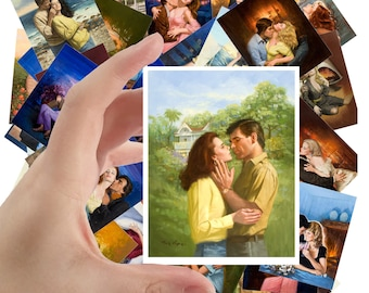 """Large Stickers (each sticker 2.5""""x3.5"""", pack 24 stickers) Vintage Romance Novel Covers by Rudy Nappi FLONZ S-1184"""