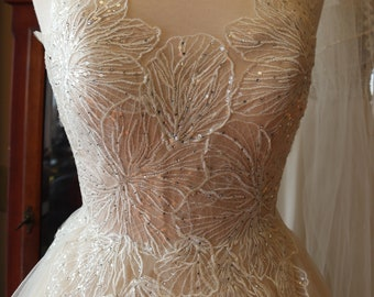 a1ce353f25b2f Wedding dress Fairy Hippie boho woodland CHiC English Tulle Floral Gown  bridal gown whymsical wedding feminine lace ballgown